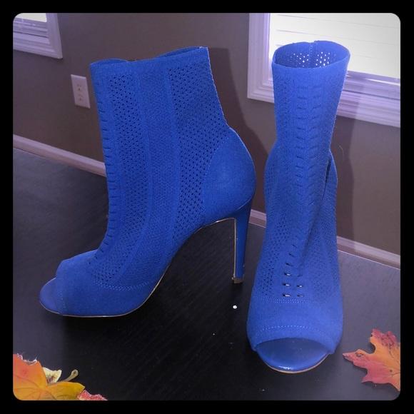 Aldo Shoes   Blue Peep Toe Booties